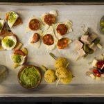 Tray of canapés