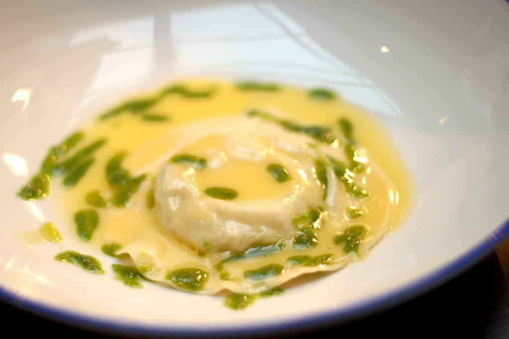 Final raviolo dish