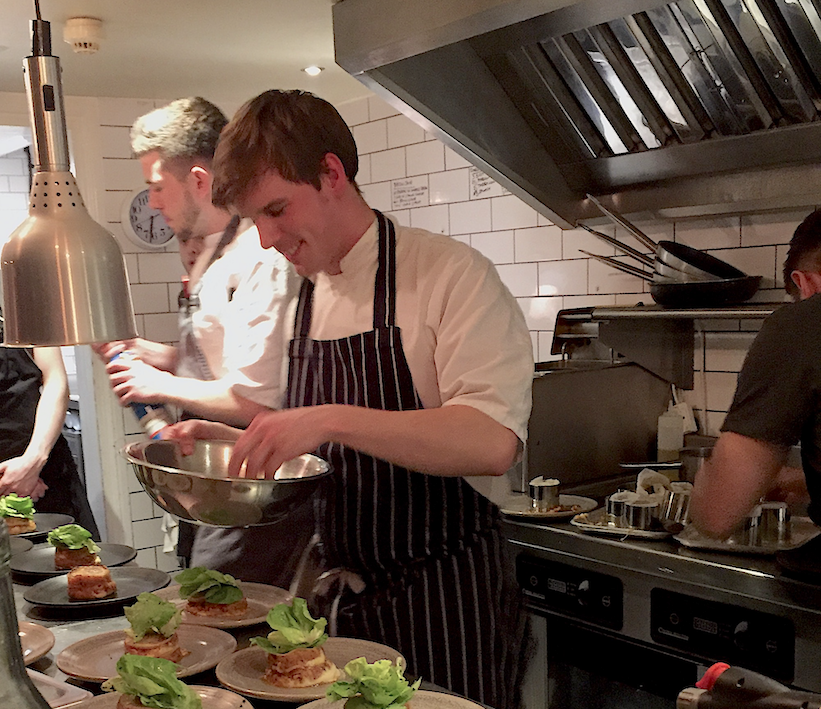 Photo of Jamie cooking at The Set event