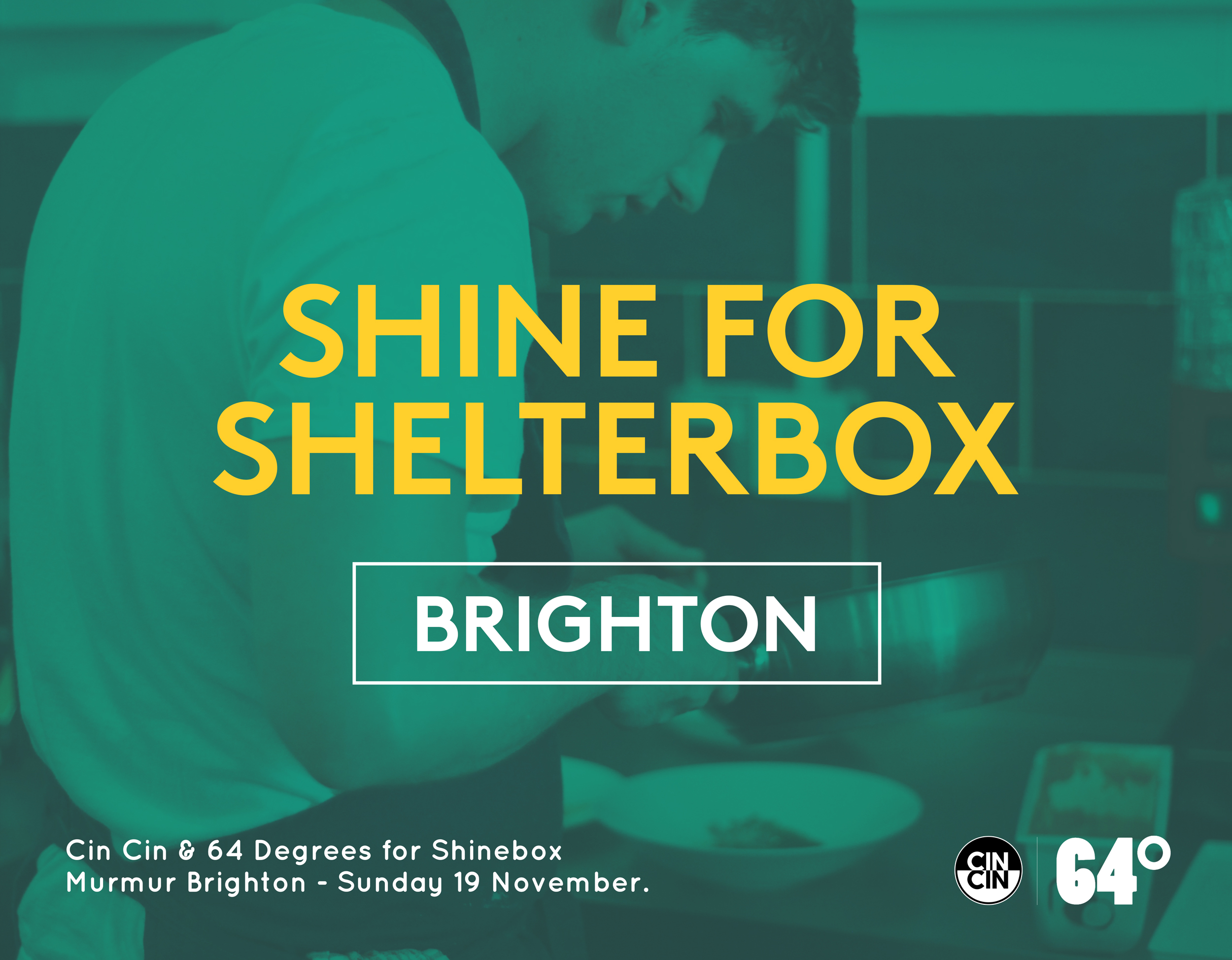 Cin Cin Brighton, Shine for Shelterbox