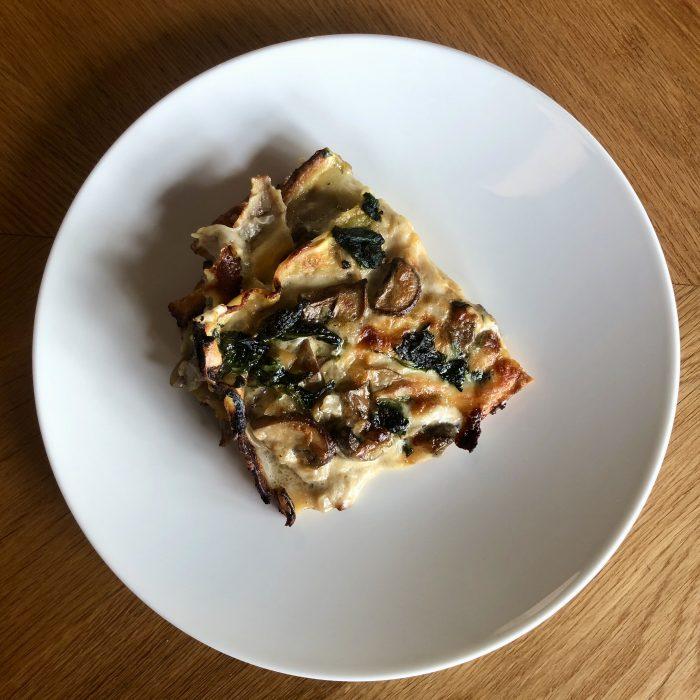 Small Lasagne Autunno of roast squash, kale & tomato ragu (Veg)